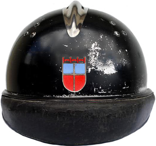 Casque du Saarbataillon (reconstitution).