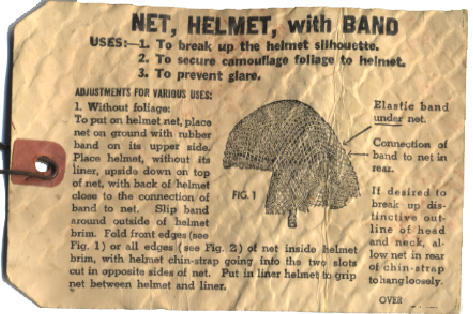 NET, HELMET, with BAND - Notice face.