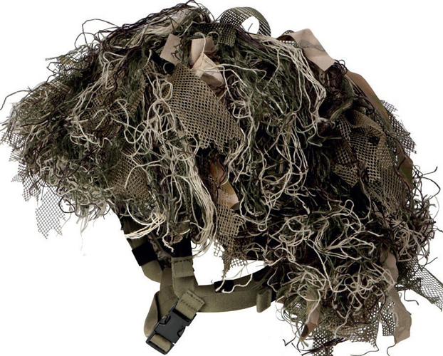 Couvre-casque type Ghillie.