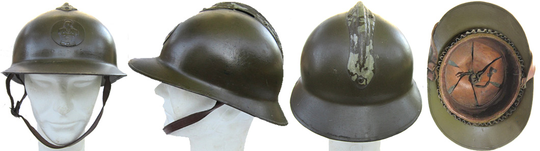 Casque Mle 23 reconditionné en 1939.