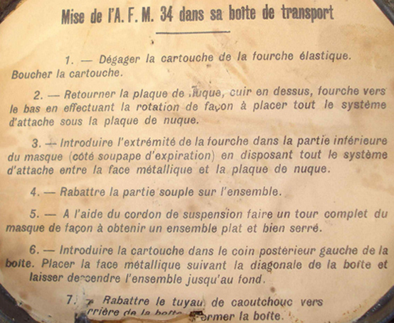 Instructions de rangement.