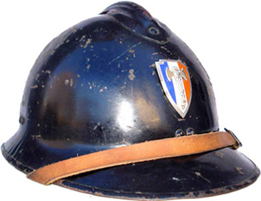 Casque Mle 36 de la Sureté nationale.