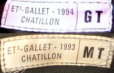 Fabrication Gallet, moyenne et grande taille, 1993 et 1994.