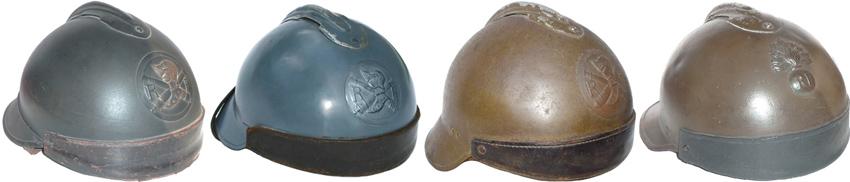 Genèse du casque de char français.
