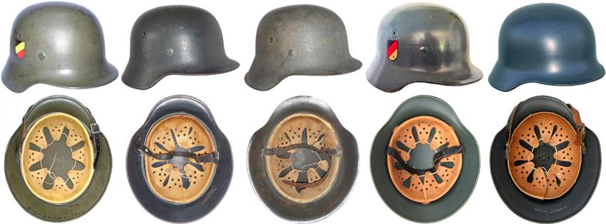 Evolution du casque allemand modèle 35.